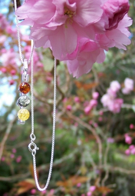 Amber Silver Chain for pendants CHCH01